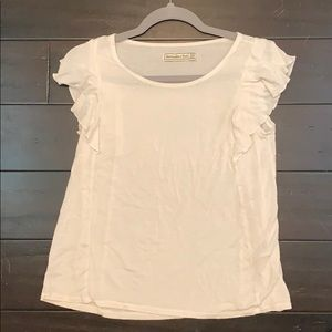 Abercrombie & Fitch white cotton shirt